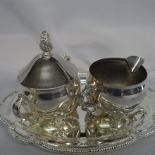 Silverplate- Sugar/creamer Set