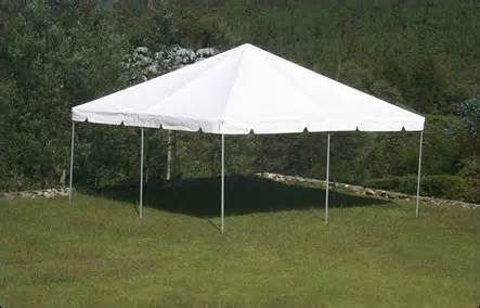Frame tent: 20' x 20'