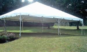 Frame tent: 30' x 30'
