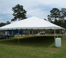 Frame tent: 30' x 50'