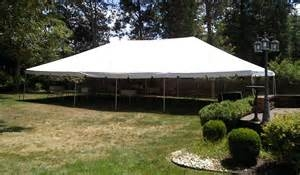 Frame tent: 30' x 60'