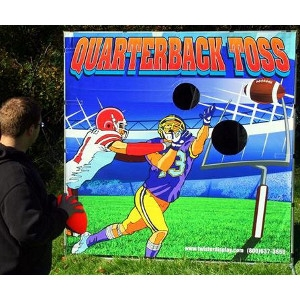 Twister Display, Quarterback Toss Football Frame Game