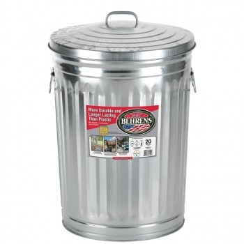 Galvanized Steel Utility Cans w/ Lids - Various Sizes