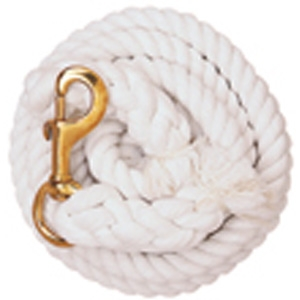 Weaver Leather White Cotton Lead Rope with Solid Brass 225 Snap