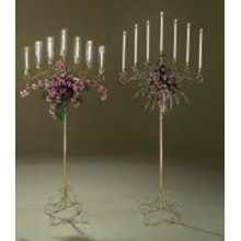 7 Candle Brass Candleabra
