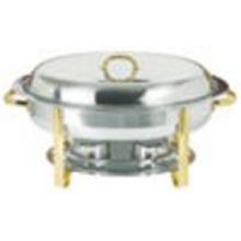 Stainless Steel Chafer With Gold Trim