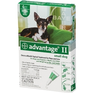 Advantage II for Small Dogs Up to 10 lbs.