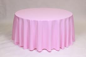 Tablecloth, Light Pink Round 108