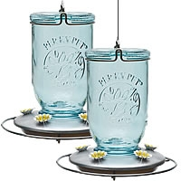 Perky-Pet® Mason Jar Glass Hummingbird Feeder - 2 Pack