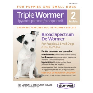 Triple Wormer Puppy & Small Dog 12Ct