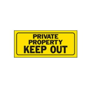 Hi-Ko Private Property Sign