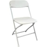 Chair, Folding, White