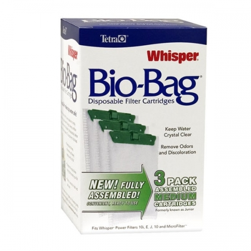 Whisper® Assembled BioBag Filter Cartridges Medium 3 Pack