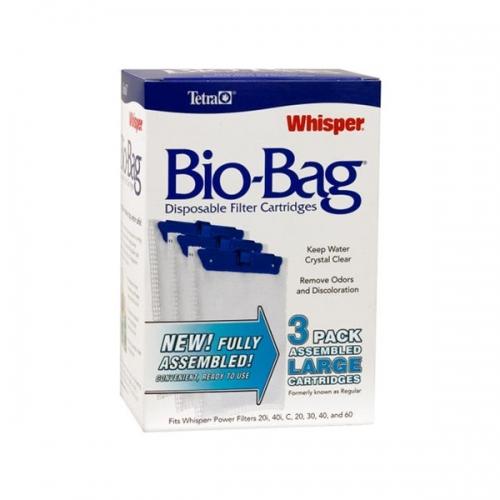 Whisper® Assembled BioBag Filter Cartridges Large 3 Pack