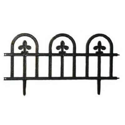 Black Estate Fence, 4-Pack