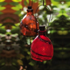 Evergreen Garden Solar Wasp Catcher Red Swirl