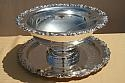 Silver Plated Punch Bowl w/tray& ladle