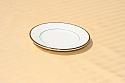 Ivory/Gold Trim Bread & Butter Plate