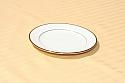 Ivory/Gold Trim Dinner Plate