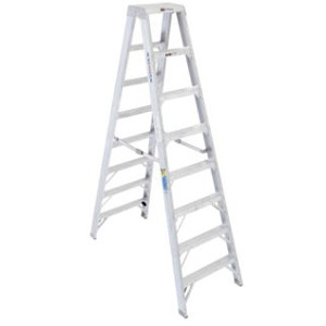 Aluminum Step Ladder - 8 Ft.
