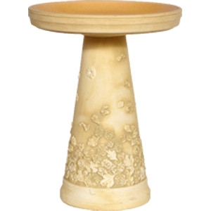 Burley Clay 'Summer Flowers' Bird Bath