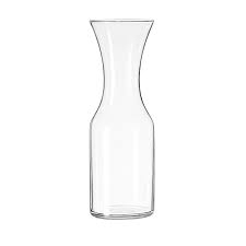 GLASS, WINE CARAFE