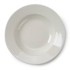DISH, WHITE SOUP BOWL