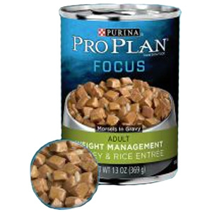 Pro Plan Focus Weight Management Turkey & Rice Entree Canned Dog Food