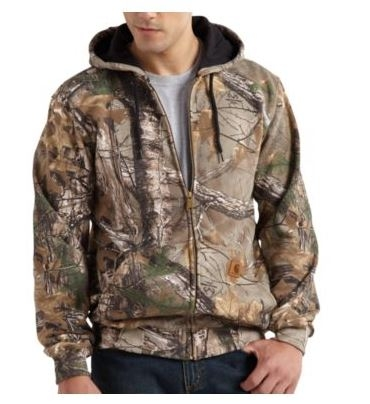 Carhartt Realtree Xtra Camo Hooded Zip-Front Sweatshirt
