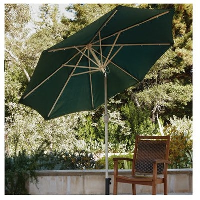 LED Solar Patio Umbrella, 9-Ft.