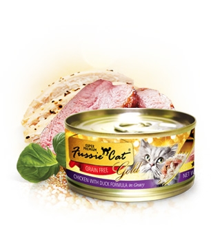 Fussie Cat Premium Chicken With Duck Formula in Gravy