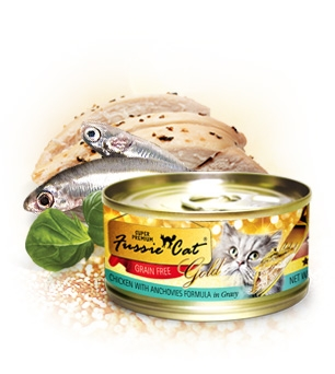 Fussie Cat Premium Chicken With Anchovies Formula in Gravy