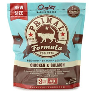 Primal Pet Foods Feline Chicken & Salmon Formula