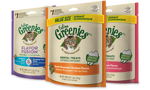 Feline Greenies Dental Treats - Oven Roasted Chicken 2.5 oz.