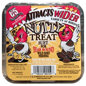 C&S Products Nutty Treat Suet Cake