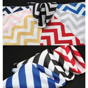 Chevron & Awning Stripe Table Linen