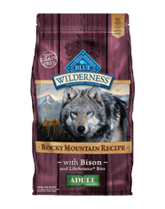 Blue Buffalo Wilderness Rocky Mountain Recipe Adult Bison Dog 4# C=5