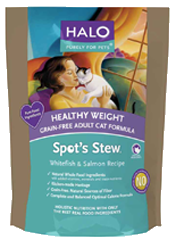 Halo Spot's Stew Cat Healthy Weight Grain Free Salmon & Whitefish 6 lb.