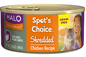 Halo Spot's Choice For Cats, Grain Free Shredded Chk 12/5.5 oz.