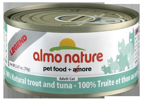 100% Natural Trout and Tuna Wet Cat Food
