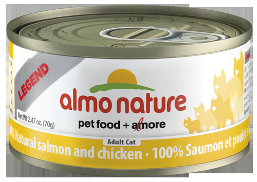 100% Natural Salmon and Chicken Wet Cat Food