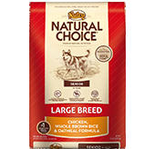 Nutro Natural Choice Large Breed Senior Dog Chicken/Brown Rice/Oatmeal 15 lb