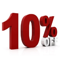 10% OFF any Merchandise for Rentals!