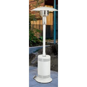 Gas Outdoor Patio Heaters, PC02 - White Patio Comfort Patio Heater