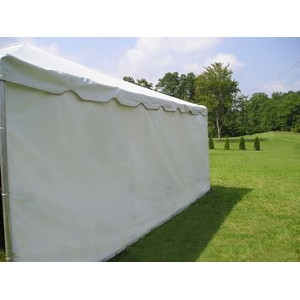 NTI Global, 7'x40' Solid White Tent Side Walls