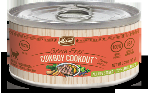 Merrick Classic Small Breed Cowboy Cookout Can Dog Food  3.2oz