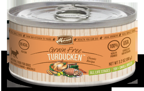 Merrick Classic Small Breed Turducken Can Dog Food  3.2oz