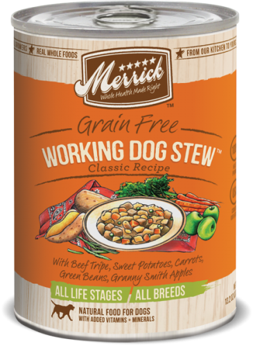 Merrick Working Dog Stew Can Dog  13.2 oz.
