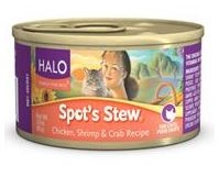 Halo Spot's Stew® for Cat Can Chicken, Shrimp & Crab Recipe 5.5  oz