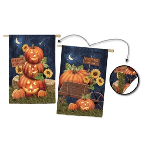 Evergreen Enterprises Regular Sub Suede Pumpkins This Way Flag